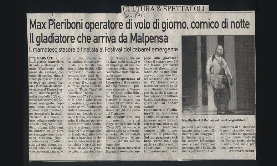 Max Pieriboni spettacolo